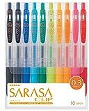 Zebra Sarasa Clip JJH15-10CA - Lote de bolígrafos (10 unidades, punta de 0,3)