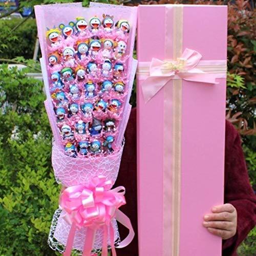 HJKND - Bouquet di bambole doraemon, motivo floreale, per bambini, stile romantico