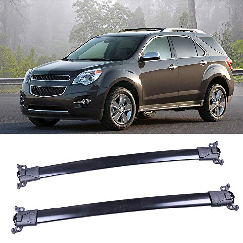 OCPTY Roof Rack Cargobar Carrier For Chevrolet Equinox 2010-2017,for GMC Terrain 2010-2017 Rooftop Luggage Crossbars - Fits Side Rails Models ONLY