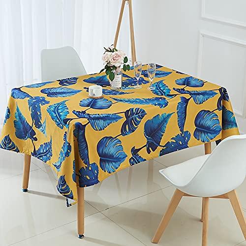 Nappe Tropicale Feuille de bananier Nappe en Lin Feuilles de Palmier cheminée Armoire Cuisine Pique-Nique décoration de Mariage A1 150x210 cm