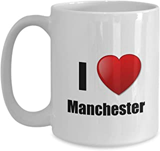 Manchester Mug I Love City Lover Pride Funny Gift Idea For Novelty Gag Coffee Tea Cup 15 oz