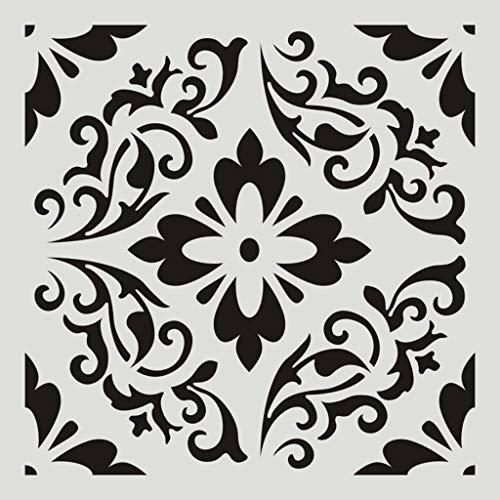 Haptian 6 stks/set Mandala Stencil muur schilderen DIY tekening sjabloon liniaal voor vloertegel