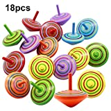 Natuce 18 PCS Peonza trompo, Juguetes para niños, Juego de peonzas, Peonzas de Madera de Colores, Creativo Juguete,...