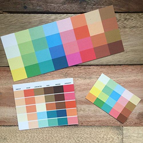 Set Großer und kleiner Farbpass, Make-Up-Pass Frühling, Frühlingstyp, Farbkarte, Frühlingsfarben Frühlingstyp,warmer Farbtyp, Farbfächer, Farbberatung, Typberatung, Farbkarten, Farbpalette