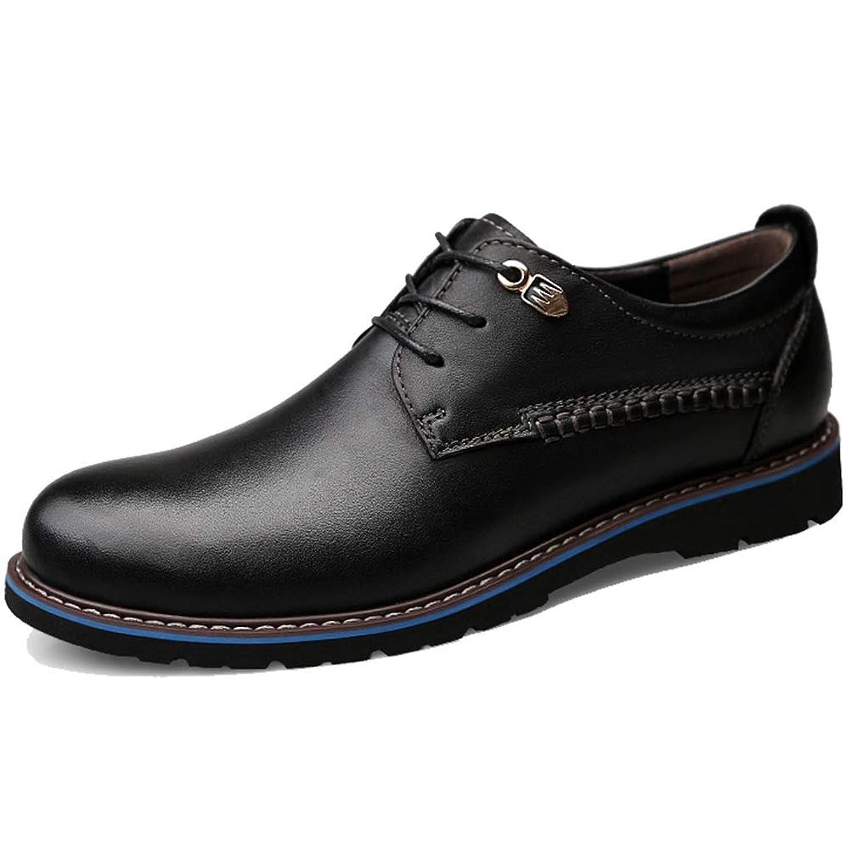 [WEWIN] ビジネスシューズ 革靴 メンズ 本革 紳士靴 大きいサイズ 靴 ウォーキング レースアップ カジュアルシューズ プレーントゥ 柔らかい 防滑 通気
