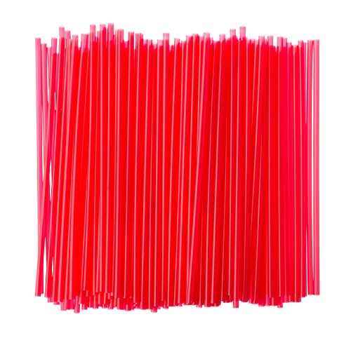 Crystalware Plastic Sip Stirrers, Cocktail and Coffee Stirrers, 5 Inch 1000/box, Red