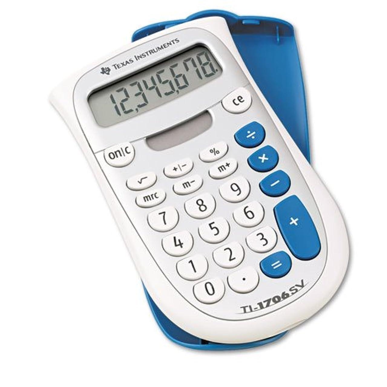 Texas Instruments - TI-1706SV Handheld Pocket Calculator, 8-Digit LCD TI-1706SV (DMi EA