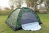 IFMASNN Camping, tienda de campaña, al aire libre, impermeable, rápido, set, ligero, compacto, manual, camuflaje (doble)