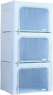 Pliable Double-ouverte Boîte De Rangement, 1 Jeu De 3, 66L Grande Capacité De Stockage En Tissu Organisateur, Convient For...