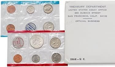 1968 U.S. Mint Set - 10 coin set 40% Silver Half Dollar