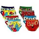 Sesame Street Elmo Boys Underwear - 8-Pack Toddler/Little Kid/Big Kid Size Briefs Cookie Monster Big Bird Oscar
