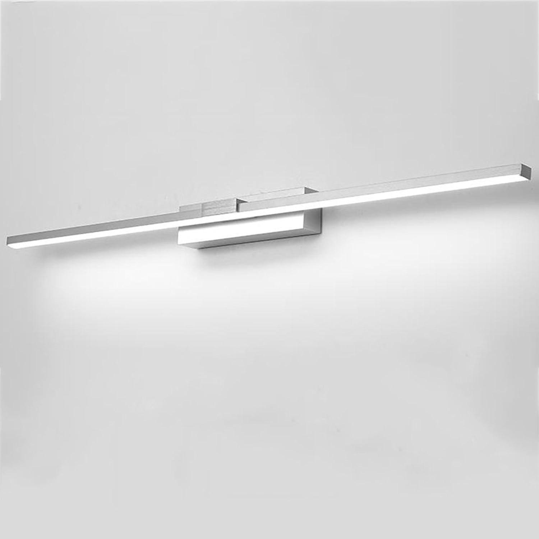 Spiegelleuchten Led Spiegel Scheinwerfer, Bad Lichter Einfache wasserdichte Nebel drehen Licht Aluminium Spiegel Lichter Badbeleuchtung ( Farbe   Silber-12w50cm )