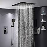 Sebasty Baño En El Techo De Cobre En Spray Empotrado En La Ducha Oculta Hotel con Sistema De Grifería De Pared De Tipo...