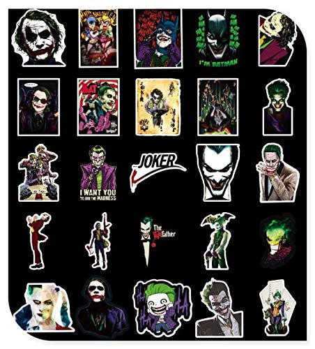 Clown Movie Skateboard Stickers Luggage Suitcase Guitar Decoration Panel Phone Case Computer Stickers 100