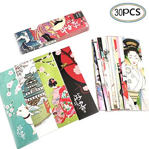 Set Di 30 Segnalibri In Stile Letterario In Stile Giapponese Per Bambini Donne Studenti Segnalibri Di Carta Segnalibro Incentivi Scolastici Premi Premi Scolastici Premi Scolastici Premio Per Ufficio