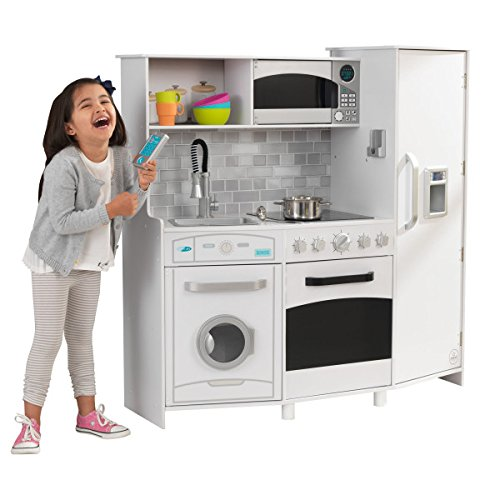 Large Play Kitchen with Lights & Sounds - White
