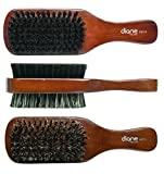 Diane 100% Boar 2-Sided Club Brush, Medium and Firm Bristles, D8115