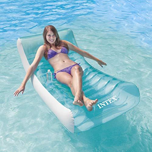 LUCKY Colchonetas flotantes para Piscina,Camas inflables flotantes,hamacas de Agua,sillones para Adultos,colchonetas flotantes de Agua,Camas inflables para natación,colchonetas de Playa,Engrosamiento
