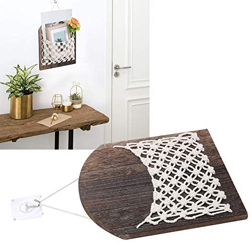 Yivibe Storage Basket, Practical Woven Storage Basket, Hangable Wooden Wall‑Mounted for Office Home