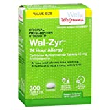 Walgreens Wal-Zyr All Day Allergy Tablets-300 ea