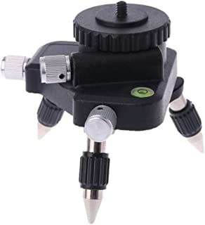 """Laser Level Adapter Micro-adjust Fine Metal 360-Degree Rotating Base Tripod Connector, Standard 1/4""""-20 Male Thread Compatible with most Laser Level Devices"""