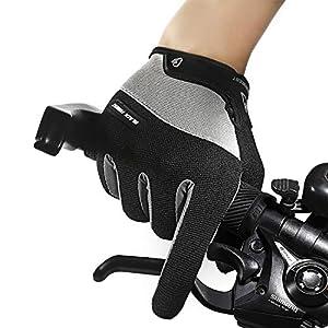 RUNATURE Guantes de Ciclismo Dedo Completo, Guantes de Bicicleta sin Dedos Guantes de Gimnasia de Carreras Medio dedopara Deportes de Ejercicio Físico Entrenamiento Montar Pesas
