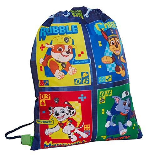 Paw Patrol Turnbeutel mit Kordelzug, für Kinder, Chase Marshall, Kindergarten-Schule, Schwimmtasche, Sport-Rucksack