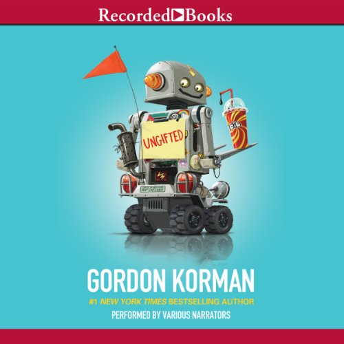 Ungifted                   By:                                                                                                                                 Gordon Korman                               Narrated by:                                                                                                                                 Jonathan Todd Ross,                                                                                        Richard Poe,                                                                                        Erin Moon,                   and others                 Length: 6 hrs and 14 mins     573 ratings     Overall 4.6