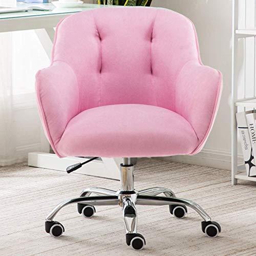 Silla de ordenador, casa cómoda sedentaria insegura con bridas sofá silla, silla moderna de rotación ajustable, con reposabrazos, middle.sky azul