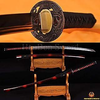 GUREN Handforged Japanese Samurai Sword Full Tang Katana 1060 High Carbon Steel Knife Alloy Fittings Swords