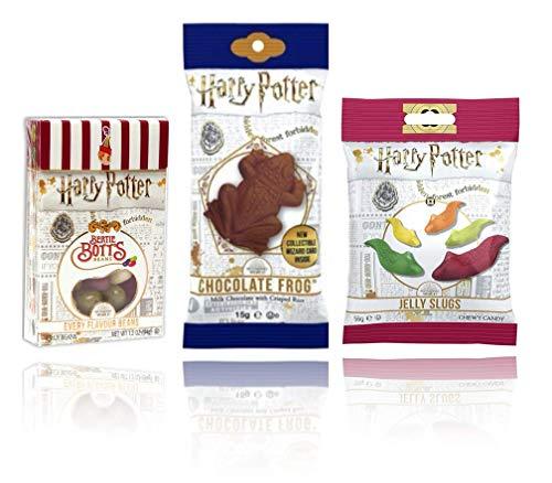 Harry Potter Jelly Belly Bertie Botts Box, Schokofrosch und Slugs