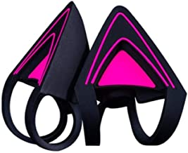 Razer Kitty Ears for Kraken Headsets: Compatible with Kraken 2019, Kraken TE Headsets - Adjustable Straps - Water Resistant Construction - Neon Purple