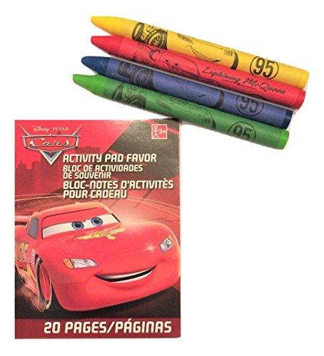 Disney Cars Mini Coloring Book with Crayons (2.5' x 3.5', 4 Crayons)