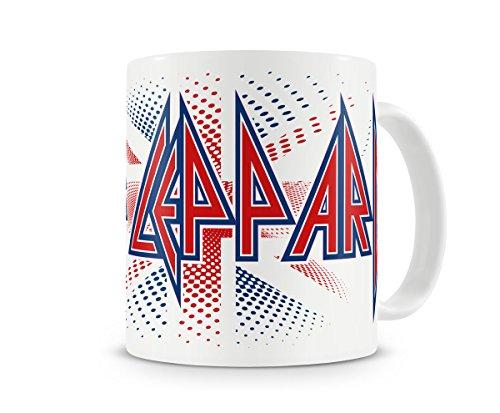 Officieel gelicenseerde Def Leppard - Britse vlag koffiemok