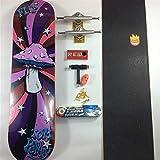 JSJJAES Skateboards Skateboard Baker Pro Canadian Conjunto Completo de monopatines con Todos los Accesorios Ruedas de Camiones de Cubierta Graptable (Color : One Set)