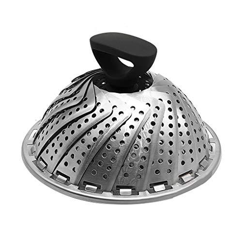 Tapa de verduras al vapor plegable en acero inoxidable