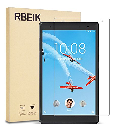 Lenovo TAB 4 8 Plus Screen Protector Glass - RBEIK 9H Hardness Scratch Resistant Bubble Free Tempered Glass Screen Protector for Lenovo TAB 4 8 Plus 8 inches Tablet 2017 Release