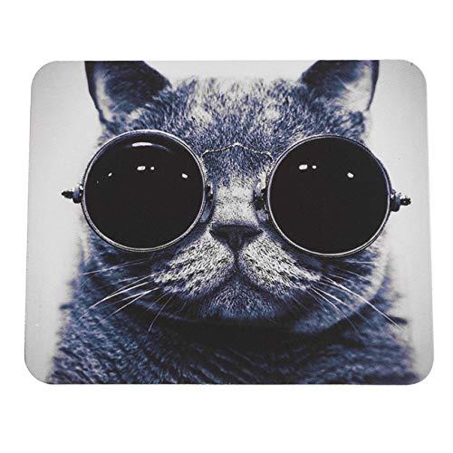 Ashley GAO Elegante patrón de gato antideslizante para ordenador portátil de PC ratones alfombrilla de ratón para ratón láser óptico cómodo lindo juego almohadilla de ratón