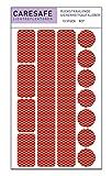 Caresafe Reflektierende Licht Reflektoren Aufkleber rot - 13 Reflektoraufkleber Set