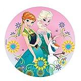 Dekora-231270 Decoracion Tartas de Cumpleaños Infantiles en Disco de Oblea Frozen con Anna y...