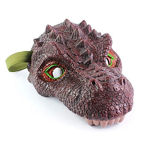 Qejuvt Nio/Adulto Cosplay Toy Dinosaur Wings Mascarilla de Cola Maquillaje Papel biogrfico Playing Ropa Conjunto de mscara de Dinosaurio