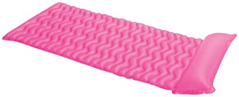 Intex Tote-N-Float Wave Inflatable Air Mat, 90-Inch X 34-Inch, 1-Piece (Color May Vary)