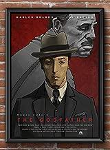 WallStore 11.7×16.5 in (A3) - Limited Edition 25 Copies - The Godfather - Film Poster Movie - Alternative Author's Work - Ilya Speshinski (11.7×16.5 inch (A3)
