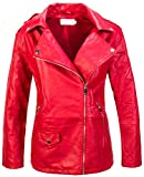 Rock Creek Chaqueta de piel sintética para mujer D-416 rojo M