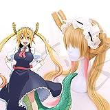 Miss Kobayashi's Dragon Maid Tohru Cosplay Wig + Horns + Hairband + Wig Cap