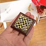 Ajedrez 1:12 Miniatura de ajedrez Mini Modelo Ajedrez Set de ajedrez EXQUISITE POLLERO JUJO DE AJUSTE DE JUGUETE CASA DE MUCHA DE POLCTORES DE AJUSTE DE AJUSTE ACCESORIOS Ajedrez Tablero ( Color : A )