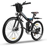 Vivi Mountain Bike elettrica da 26', Bici elettrica da Montagna Pieghevole, Batteria...