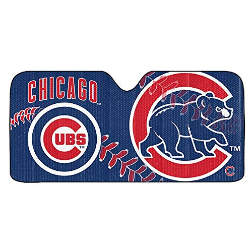 FANMATS ProMark MLB Chicago Cubs Auto Sun Shade 59x27, Team Color, One Size