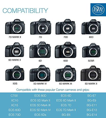 BM Premium 2 LP-E6N Batteries for Canon EOS R, EOS R5, EOS 90D, EOS 60D, EOS 70D, EOS 80D, EOS 5D II, EOS 5D III, EOS 5D IV, EOS 5Ds, EOS 6D, EOS 6D II, EOS 7D, EOS 7D Mark II, C700, XC10, XC15 Camera