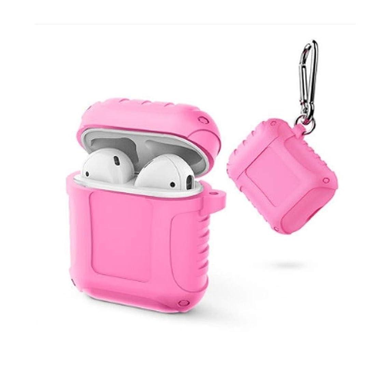 適用済みバレーボール行方不明WXZD スタイリッシュなヘッドフォンセット - アンチドロップストレージAirPodsケース、ドロッププルーフと耐久性、新鮮で美しい、美しいギフト(ブラック、グリーン、ピンク、レッド) (Color : Pink)